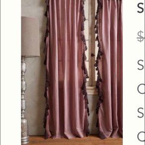 Anthropologie Santina lace curtains